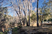 Percha Creek and a campground at the Kingston CG